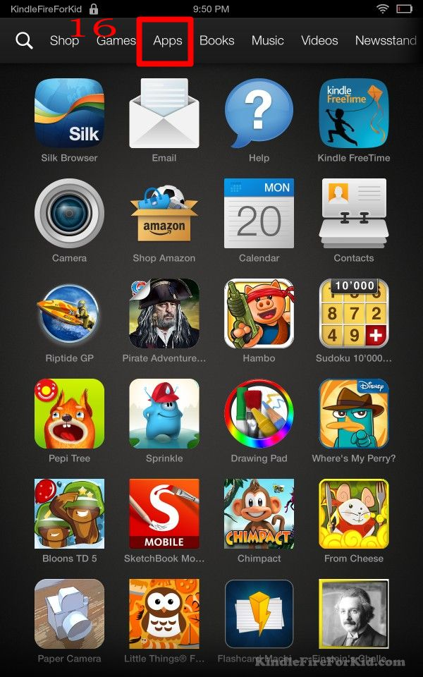 sideload android apps Kindle Fire, Kindle Fire HD and  Kindle Fire HDX: home--Apps