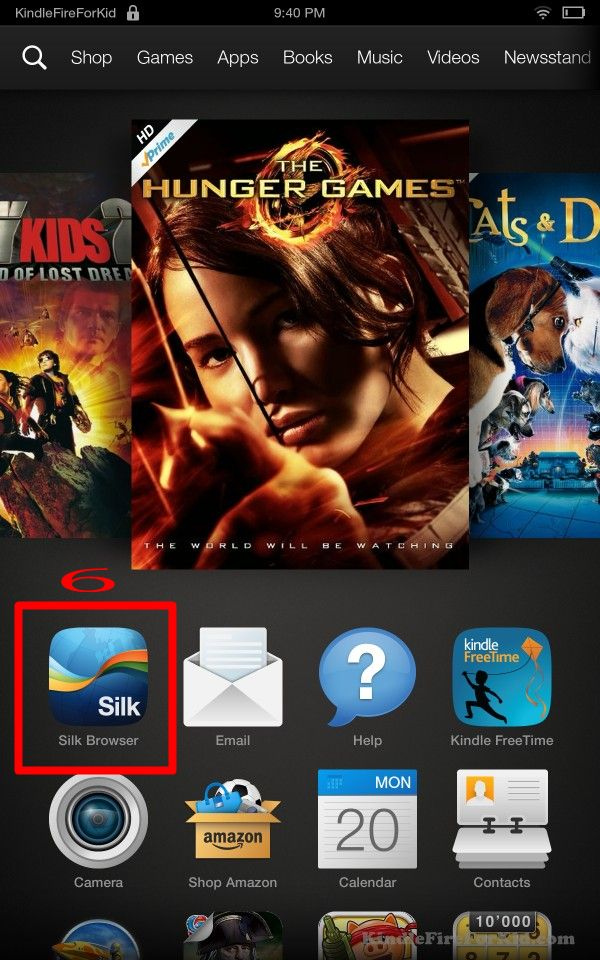 sideload android apps Kindle Fire, Kindle Fire HD and  Kindle Fire HDX: silk browser