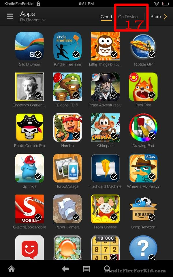 sideload android apps Kindle Fire, Kindle Fire HD and Kindle Fire HDX: apps - On Device