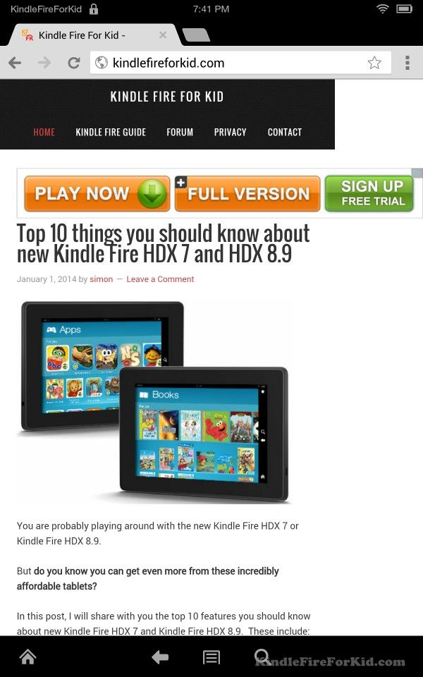 sideload android apps Kindle Fire, Kindle Fire HD and Kindle Fire HDX : test chrome browser