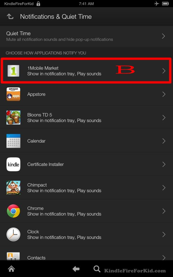 sideload android apps Kindle Fire, Kindle Fire HD and Kindle Fire HDX: disable annoying 1Mobile notifications
