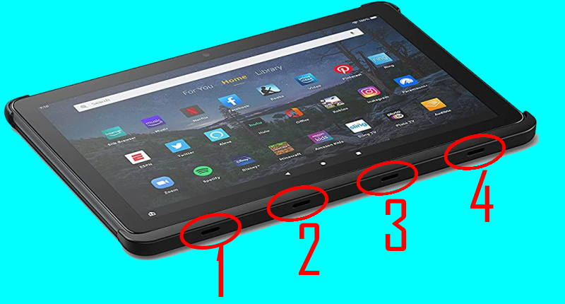 attach and remove the official wireless keyboard for Amazon Fire HD 10 2021 (and Fire HD 10 Plus)
