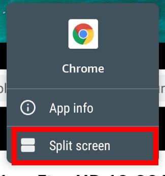 Split Screen mode option