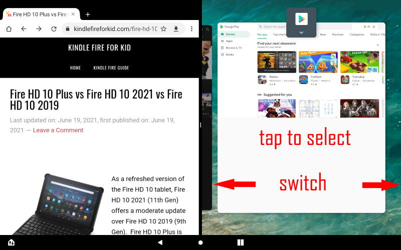 Open the first app in the Split Screen mode, added